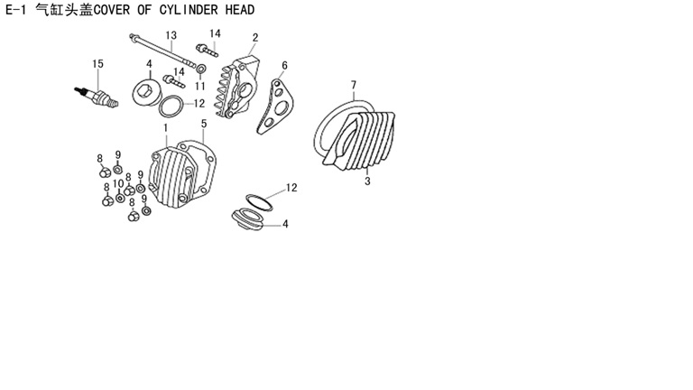COVER OF CYLINDER HEAD