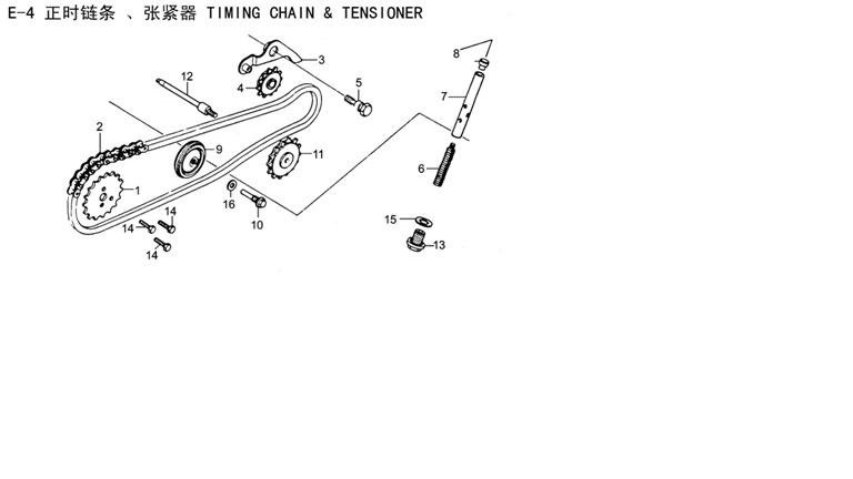 TIMING CHAIN & TENSIONER