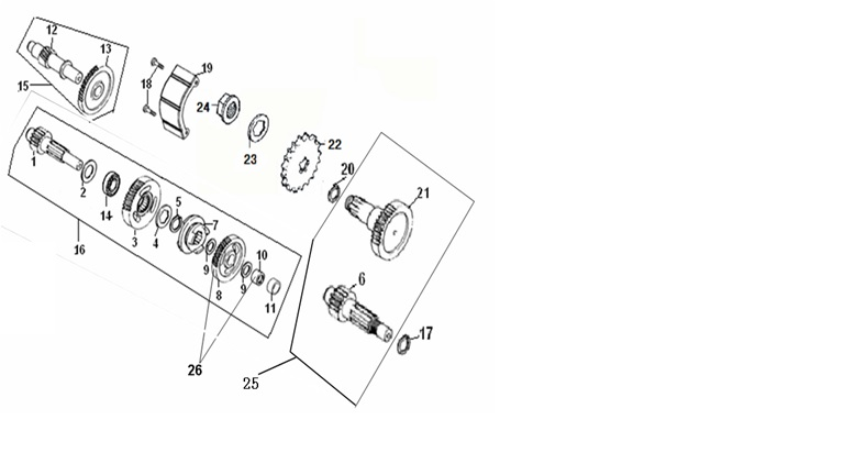 MAINCOUNTERSHAFT & REVERSE GEAR