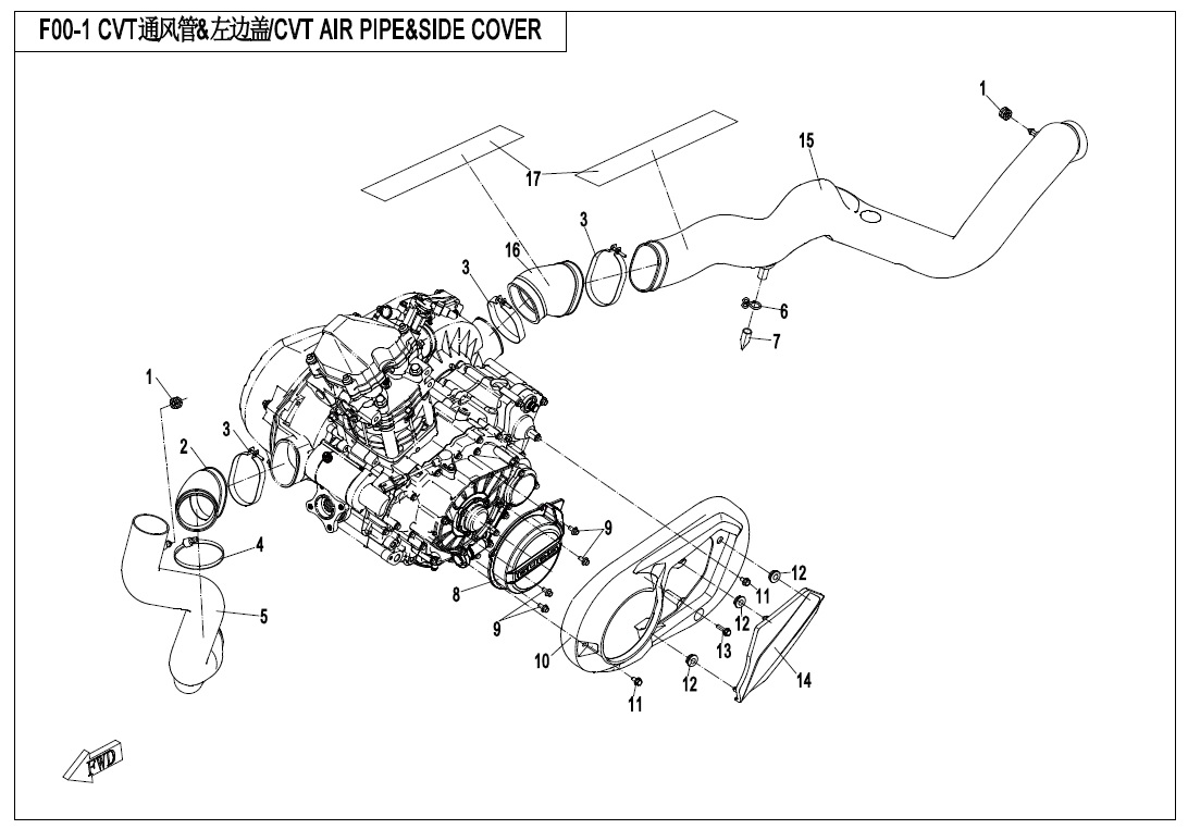 CVT AIR PIPE&SIDE COVER