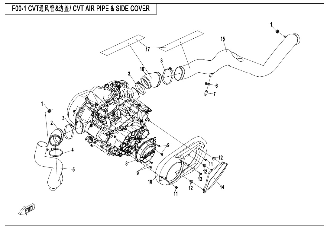 CVT AIR PIPE& SIDE COVER