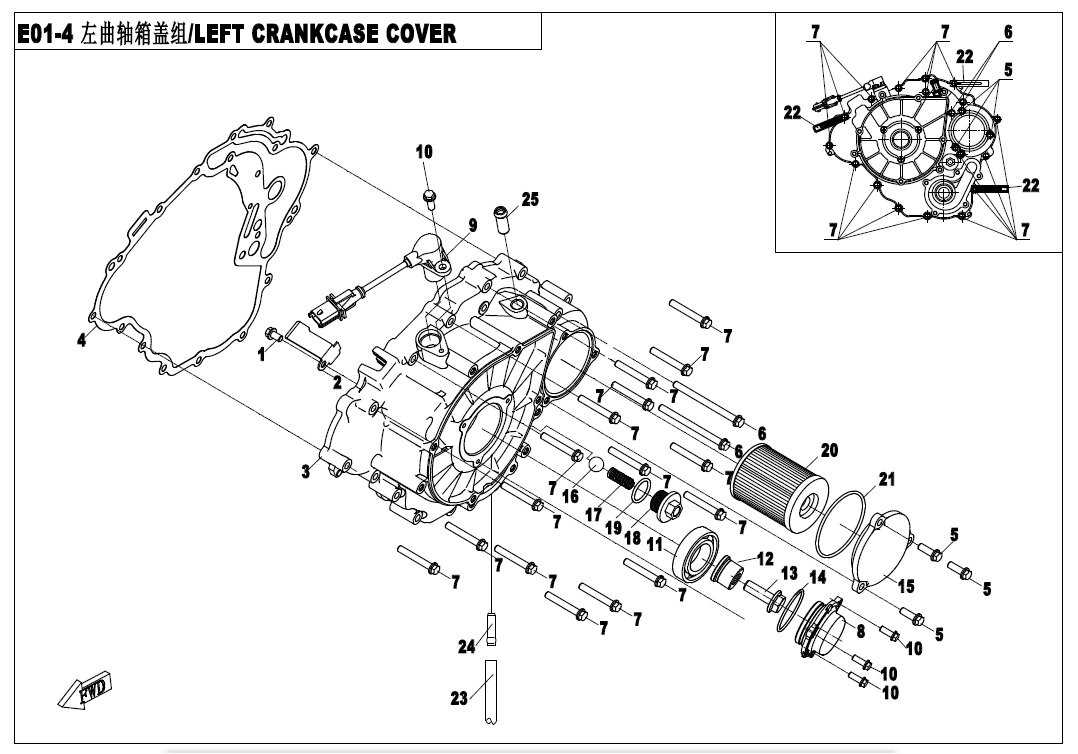 LEFT CRANKCASE COVER ASSY
